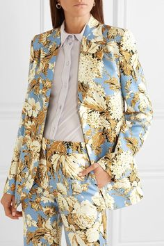 Find and compare Florence floral-print cady blazer across the world's largest fashion stores! Prom Outfits, Blazer Outfits, Classy Outfits, Cute Outfits, Suit Fashion, Love Fashion, Fashion Looks, Fashion Outfits, Fashion Design