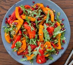 Get ideas and inspirations with our selection of curated recipes and meal inspiration, Easter Food, Easter Recipes, New Recipes, Farro Recipes, Pomegranate Molasses, Toasted Pumpkin Seeds, Roasted Butternut, How To Make Salad, Vegetable Salad