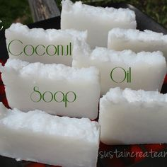 I don't know if I've ever told you this, but, my husband is rad. Totally rad. I love him dearly. He is good at so many different things, and one of them happens to be soap making. I like this, because lye is dangerous, and I am clumsy and anxious, so it's best... #coconutoil #homemadesoap