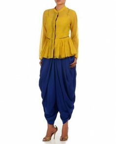 Royal Blue Dhoti Pants
