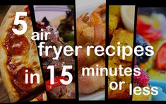 5 Air Fryer Recipes in 15 Minutes or Less! Blender Recipes, Soup Recipes, Cooking Recipes, Kid Recipes, Recipies, Dinner Recipes, Air Fry Bacon, Air Fryer Recipes Videos, Small Air Fryer