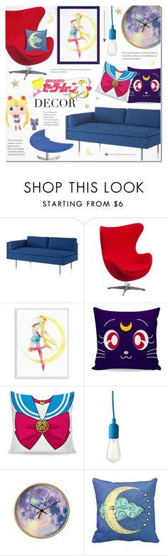"""Sailor Moon Decor"" by alexandrazeres on Polyvore featuring interior, interiors, interior design, home, home decor, interior decorating, Herman Miller, Flash Furniture, Dot & Bo and Funko"