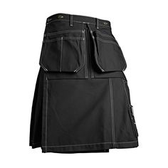 Blaklader 1627 Glasgow Kilt - Black - It takes a real man to wear a kilt - especially this one. The Glasgow has become the badge of craftsmen who take the road less traveled. It has the same functional pockets as Blaklader pants, but it includes a ventilation system that pants just can't offer. Sure, you'll be the only guy on the jobsite in a kilt. But you like it that way. | FullSource.com