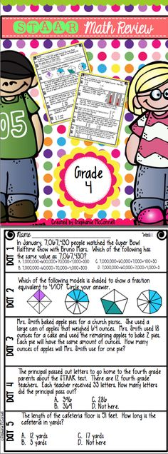 STAAR Math Daily Review for 4th Grade