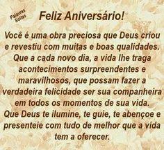 Congratulations, Happy Birthday, Best Happy Birthday Message, Daughter Birthday Message, Happy Birthday Text, Chico Xavier, Pretty Quotes, Flowers, Happy Brithday