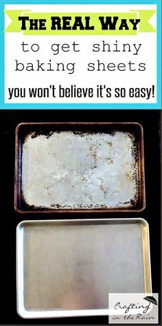 I'm totally trying this- all my baking sheets are so gross and grimy! I hope it works!