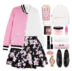 Pink Friday - How To Style A Pink Bomber Jacket by celida-loves-pink on Polyvore featuring J.Crew, Juicy Couture, Pierre Hardy, Deux Lux, Michael Kors, SHOUROUK, Skinnydip, Jules Smith, Guerlain and Givenchy