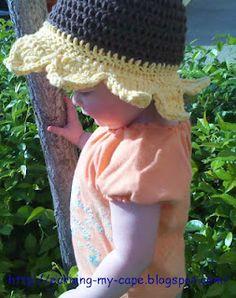 Free Pattern.  Crochet Toddler Sunflower hat by http://earning-my-cape.blogspot.com/2012/05/sunflower-sun-hat.html