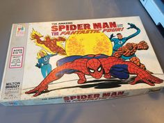 RARE VINTAGE SPIDER-MAN GAME WITH THE FANTASTIC FOUR 1977 BOARD GAME MB COMPLETE #MiltonBradley
