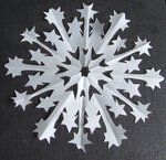 Printable Snowflake Patterns We make snowflakes every year to hang from the high ceiling in our entry way.  This will be perfect.  One year they didn't come down till February!