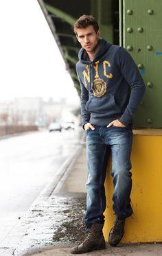 Love a guy in a hooded sweatshirt