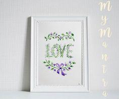 #love #szerelem #flower #virág #akvarell #watercolor #handlettering #feliratoskép #lakberendezés #vintage #design #dizájn #home #dekor