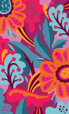 Wallpaper Mural Tricks: How to Choose and Install Illustration Blume, Pattern Illustration, Wall Patterns, Background Patterns, Tumblr Wallpaper, Wallpaper Backgrounds, Phone Backgrounds, Flower Wallpaper, Pattern Wallpaper