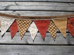 Just bought this for my mantle!!  So cute for fall decor!  Primitive Fabric Rag Banner