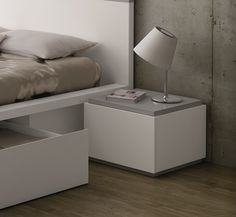 TemaHome Contemporary Slot 1 Drawer Bedside Cabinet/4 Finish Choices