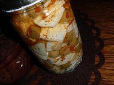 Naložený hermelín s olivami Salsa, Cheese, Food, Essen, Salsa Music, Meals, Yemek, Eten