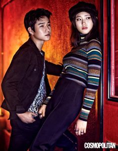 'Reply lead actors Ryu Hye Young and Go Kyung Pyo became a stylish couple for the September issue of Cosmopolitan. For the photoshoot, the co-stars modeled modern interpretations of punk rock fashion. Korean Actresses, Korean Actors, Actors & Actresses, Korean Idols, Go Kyung Pyo, Korean Drama Movies, Korean Dramas, Weightlifting Fairy Kim Bok Joo, Stylish Couple