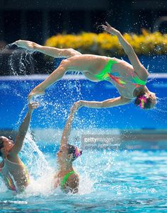 Photo d'actualité : The Olympic Synchronized Swimming team from Italy...