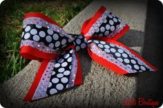 Cheer Bow by JulietsBoutique