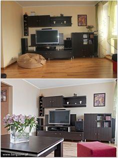 Wnętrze może być ciemne, szare i ponure. Albo jasne, dobrze doświetlone  atrakcyjne. Które wybieracie?    #Mieszkania, #HomeStaging Property Values, Home Staging, Curb Appeal, Corner Desk, Furniture, Home Decor, Homemade Home Decor, Corner Table, Home Furnishings