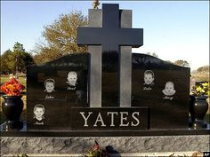 Headstone for the 5 Yates children, all drowned by their mother, Andrea Yates. Mary Yates - Luke Yates - Paul Yates - John Yates - Noah Yates - So sad at Forest Park East Cemetery in Webster, Texas, USA ~. John Yates, Forest Park, 20 Years Old, Cemetery, Outdoor Decor, Oldest Child, Texas Usa, Children, Assassin