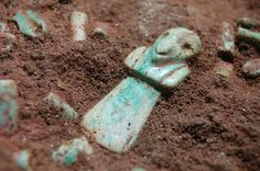 Mayan Tomb Discovered  Archaeologists uncovered the tomb of a very early Mayan ruler, complete with rich jade jewelry and decoration at the Tak'alik Ab'aj temple site in Guatemala.