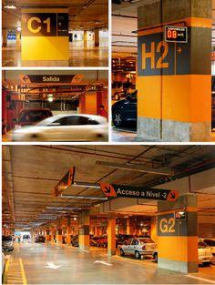Parking Design, Signage Design, Palermo, Park Signage, Wayfinding Signs, Retail Architecture, Parking Lot, Car Parking, Sign Board Design