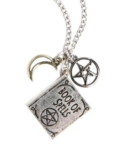 Book Of Spells Charm Necklace,
