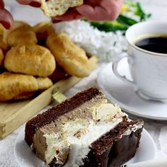 Ciasto czekoladowe Z 7 days 💖 Słodkości mojej mamci! 💖 ( Cake with 7 days 💖 Sweets done by my mum 💖 ) # ciasto #ciasta #ciacho #cake #domoweciasto #domowewypieki #mojewypieki #7days #chocolate #foodporn #czekolada #deser #dessert #cracow #kraków #ostranaslodko #sylwialadyga Tiramisu, French Toast, Food Porn, Food And Drink, Cooking, Breakfast, Ethnic Recipes, Cappuccinos, Cakes