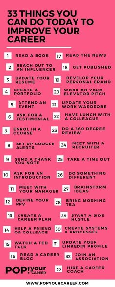 @allcupation | 33 things you can do today to improve your career today