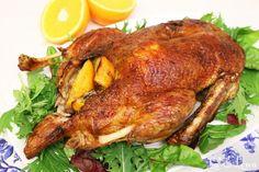 Rata la cuptor c portocale - simplu si PAS cu PAS - LaLena. Romanian Food, Winter Holidays, Recipies, Good Food, Food And Drink, Turkey, Cooking, Poultry Food, Martha Stewart
