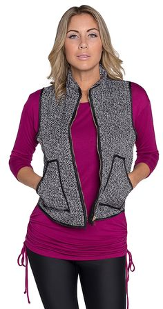 Bad to the Herringbone Vest Silver Icing, Herringbone Vest, Puffy Vest, Affordable Clothes, Winter Wardrobe, Chic Outfits, Casual Chic, Dallas, Pockets