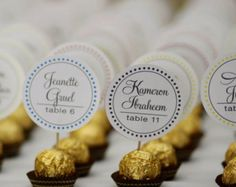 Ferrero Rocher Wedding Reception Chocolate Truffles Escort or place cards card…  #RePin by AT Social Media Marketing - Pinterest Marketing Specialists ATSocialMedia.co.uk