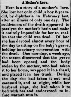 Romancing the Genres: Scary Books, Scary Movies, Scary True History. Newspaper clipping, published in Shelby County Herald of Shelbyville, Missouri on October 1, 1890.  | Romancing The Genres Blogspot.com, by Kristin Holt (KristinHolt.com)