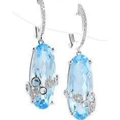Jewelry Point - Fine 11.42ct Blue Topaz
