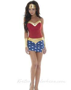 Frække Utkledning Wonder Woman Kostume