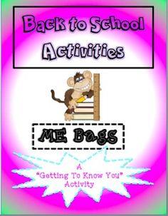 Back To School Activities: ME Bags!