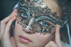 Elegant Silver Metal Laser Cut Masquerade Mask w/ Rhinestones on Etsy, $34.95