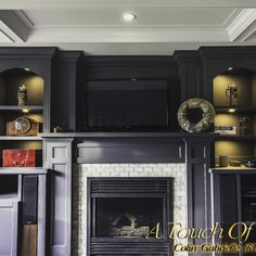 Cigar room with coffered ceilings