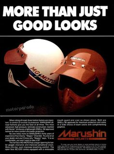 Racing Helmets Garage: Vintage Brochures: Marushin