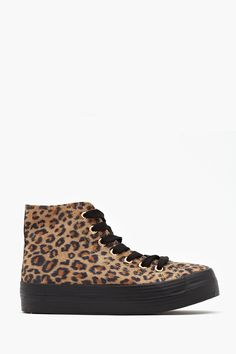 London Platform Sneaker in Leopard