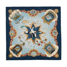 An iconic Hermes scarf in luxurious silk twill immaculately screen printed with the La Magie design. The print was first created in 1999 by Claudia Mayr.