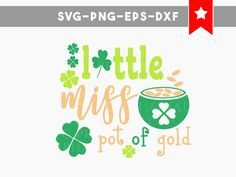 pot of gold svg, st patricks day svg, shamrock svg, happy st patrick day, silhouette cameo files, svg files for silhouette, commercial use by PersonalEpiphany on Etsy