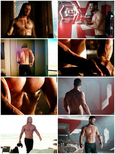 Chris Hemsworth fanservice in the Thor trilogy