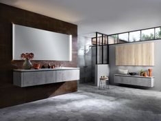 Modern Nature Bathroom bathroom sink and mirror cabinet walk in