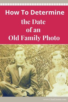 an Old Family Photo Do you have old family photos in your closet? 5 tips to date and begin identifying just who those individual are!Do you have old family photos in your closet? 5 tips to date and begin identifying just who those individual are! Genealogy Websites, Genealogy Research, Family Genealogy, Genealogy Chart, Genealogy Humor, Genealogy Organization, Organizing, Old Family Photos, Family Research