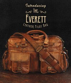 Men's vintage leather briefcase bag by Buffalo Jackson Trading Co. Designed to withstand the elements of adventure, but with an eye-catching quality any rugged gentleman would be proud to carry. pilot bag | laptop bag | men's style