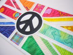 Rainbow Peace Flag Wall Hanging £40.00