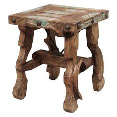 Western Furniture: Ox Yoke Side Table|Lone Star Western Decor