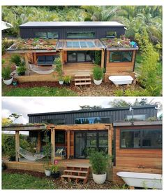 Modern Tiny House, Tiny House Cabin, Tiny House Living, Tiny House Plans, My House, Surf House, Cabin House Plans, House Kits, House Ideas